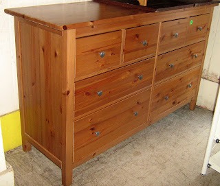 Long Ikea 8 Drawer Pine Dresser Sold