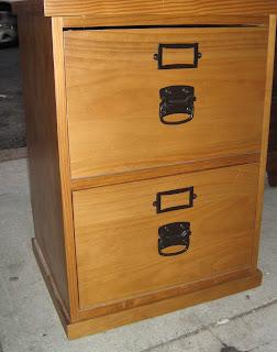 uhuru furniture & collectibles: tall & short real wood file