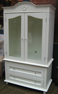 Shabby Chic Armoire uhuru furniture & collectibles: shabby chic style- sour cream