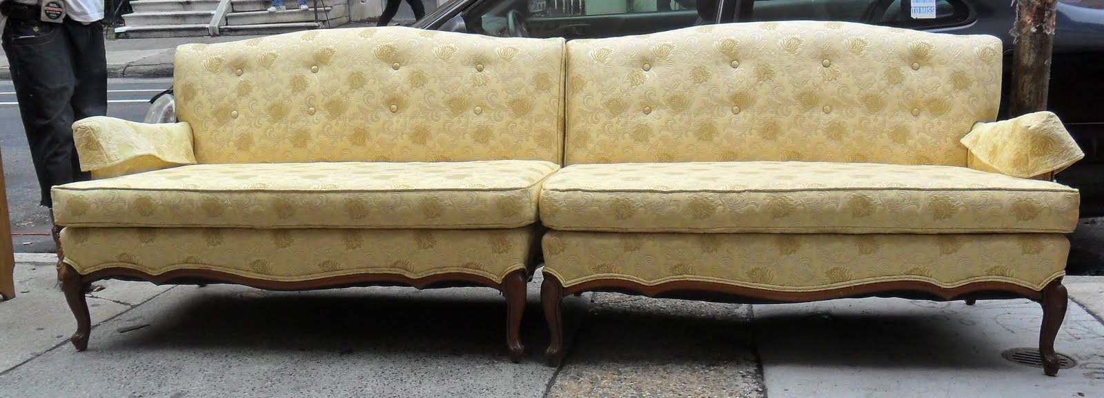 Exceptionnel Beautiful French Provincial Sectional Sofa SOLD