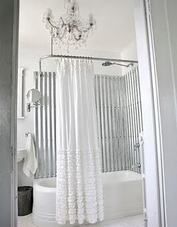 Fern Creek Cottage: Ruffled Shower Curtains