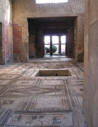 Reveditalie las casas de pompeya y su pintura for Atrio dentro casa
