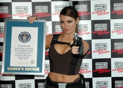 Alison Carroll set a World Record for Gamer Gal,gamer world record 2010