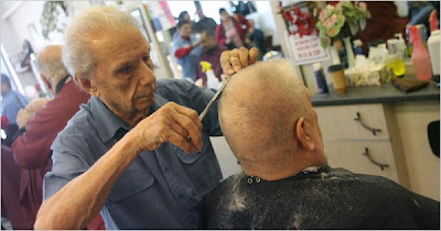 Anthony Mancinelli picture, Anthony Mancinelli photo, Anthony Mancinelli images, World's oldest barber picture, World's oldest barber photo, World's oldest barber images