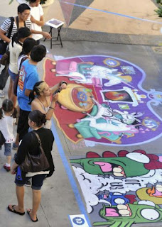 Pasadena Chalk Festival, Guinness World Records, largest street painting picture, image, video, photo