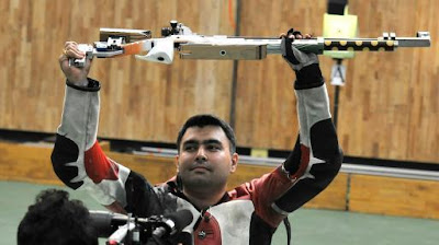 Gagan Narang photo, Gagan Narang picture, Gagan Narang CWG 2010 World Record, Gagan Narang air rifle World Record, silver medals to India's collection in the Commonwealth Games