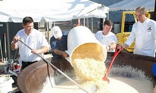 World's Largest Macaroni And Cheese 2011, Largest Macaroni And Cheese Guinness World Record 2011, Chef John Folse & Company world records 2010, current cheese fondue Guinness World Record holder