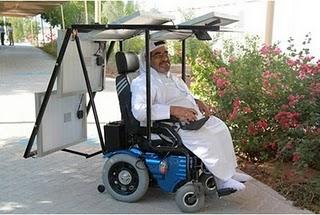 Solar Powered Wheelchair photo, Solar Powered Wheelchair picture, Solar Powered Wheelchair video, Longest distance in a solar powered wheelchair, Haidar Taleb world record, United Arab Emirates in a solar-powered wheelchair