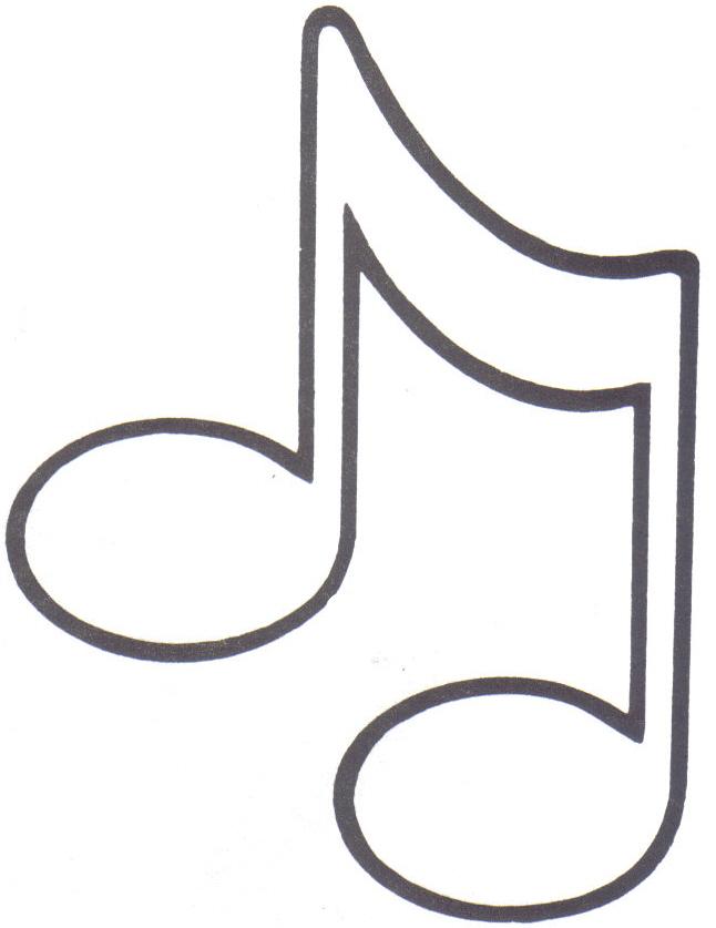 Molde De Notas Musicais Para Imprimir