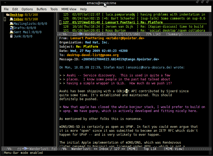 Wanderlust Terminal Mail Client on ubuntu 21.04 | lateweb.info