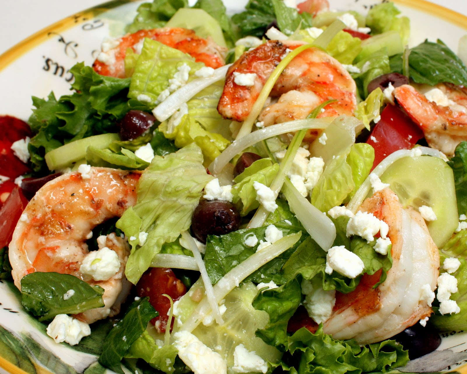 Mediterranean Shrimp Salad | Wives with Knives