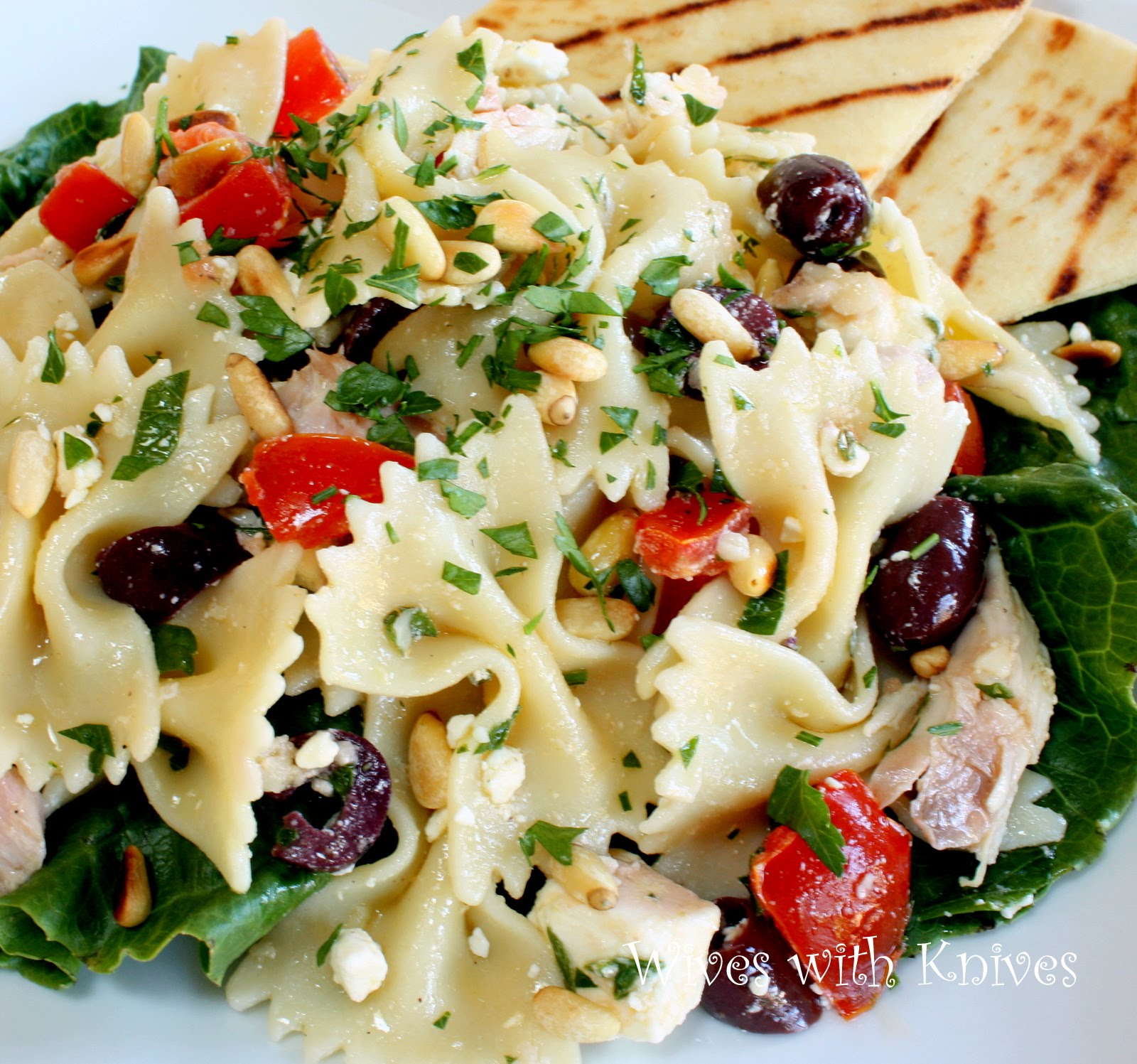 Greek Chicken Pasta Salad | Wives with Knives