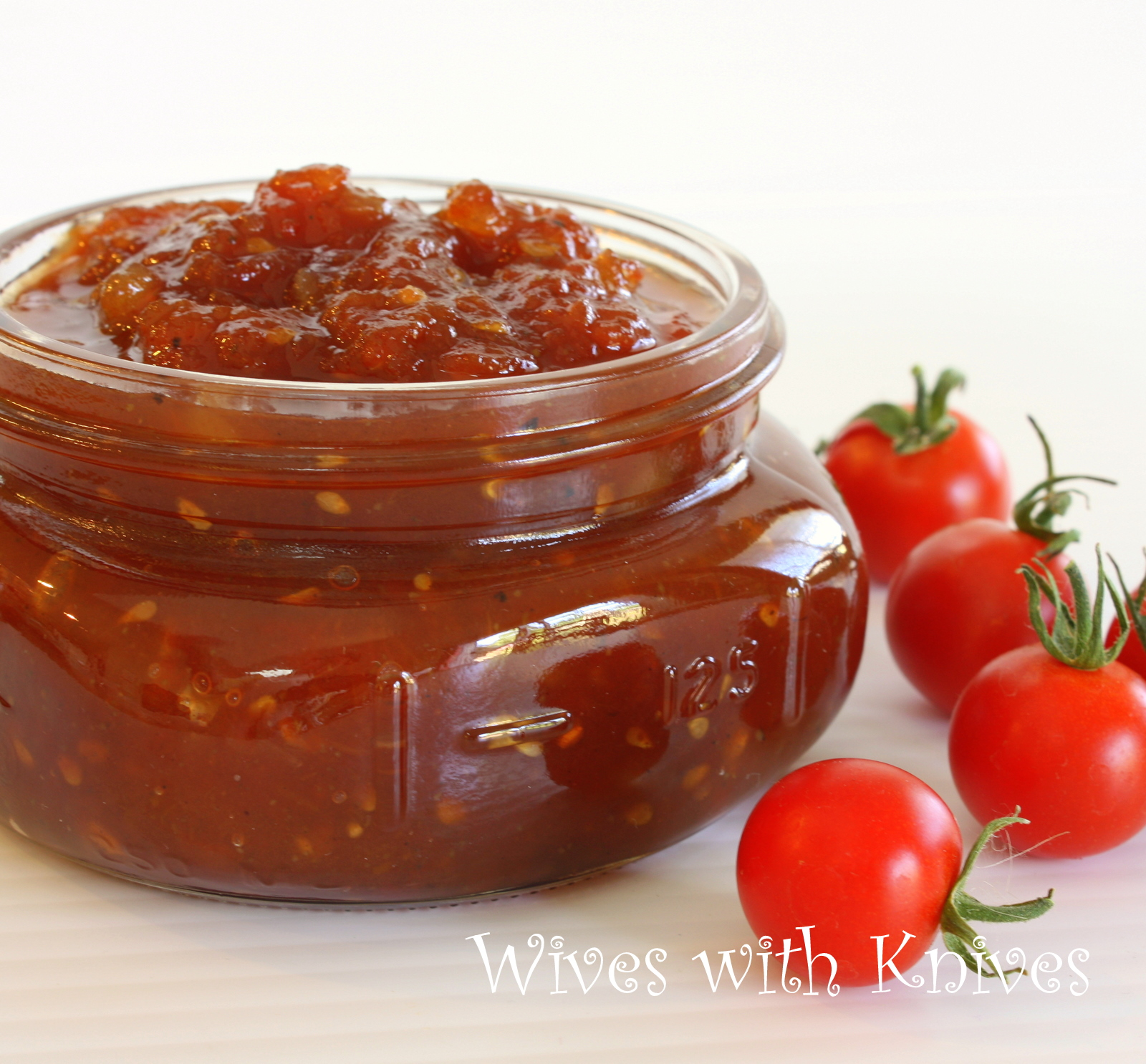 Tomato Jam ~ A delicious way to use summer tomatoes | Wives with ...