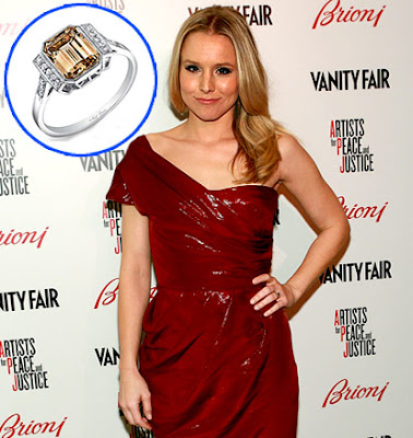 Kristen bell her ring is simple and beautiful just like her