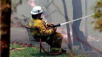 Relaxed fireman