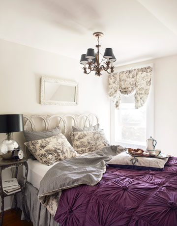 light purple and grey bedroom the light gray tulle on the