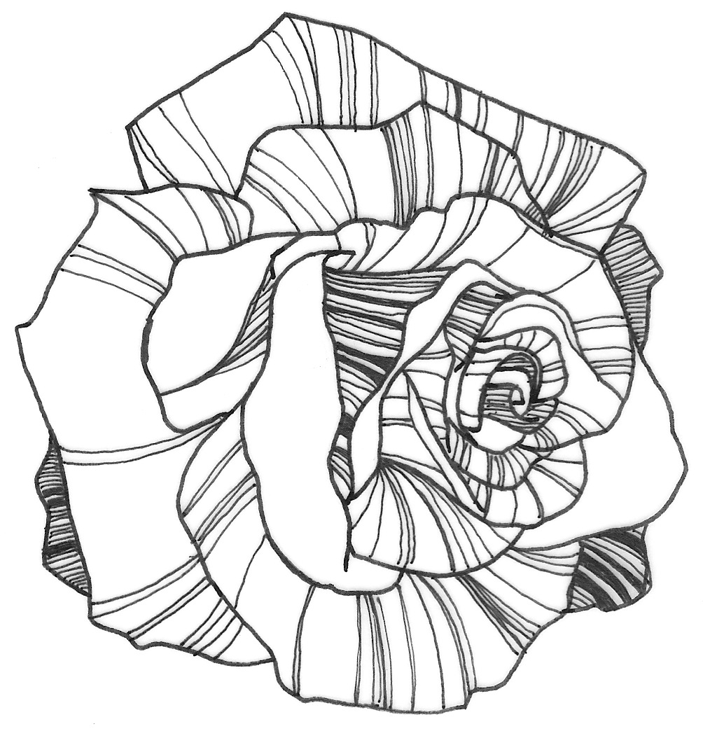 Line Art Flowers : Nicole illustration flower power