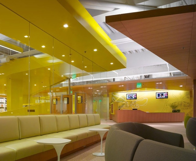 Yellow Accents At The FIDM In San Diego Scandinavian