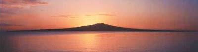 Rangitoto Island in the Hauraki Gulf