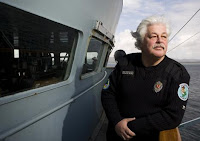 Capt.Paul Watson aboard the Steve Irwin