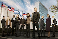 24 Season 8: cast shot outside United Nations building, NY