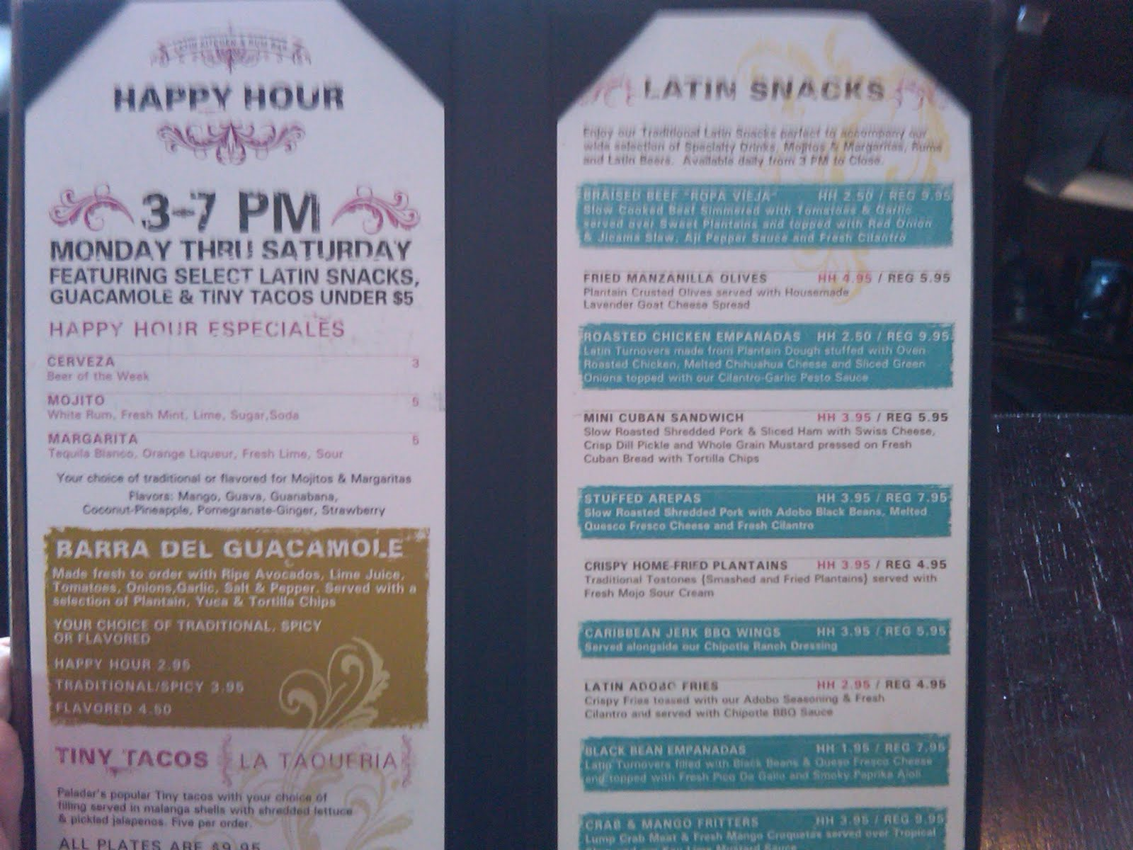Drink Cheap & Be Merry: Paladar - A Latin Happy Hour