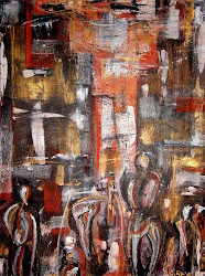 Rat Race Mixed Media on Canvas