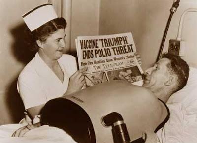 Polio vaccine headline