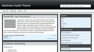 Darkness Inide Theme