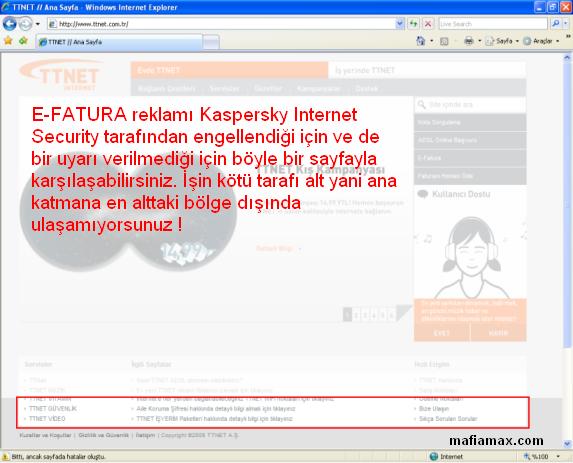 Internet Explorer ile TTNET.com.tr