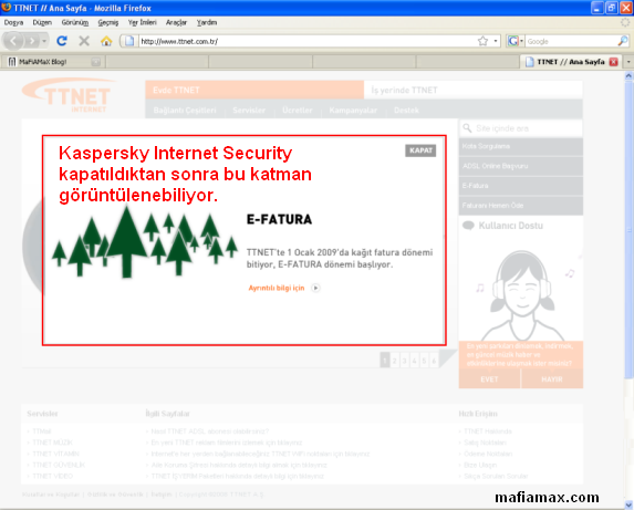 Mozilla Firefox ile TTNET.com.tr