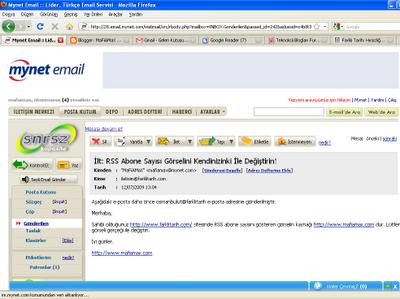 Osman Bulut'a gönderilen e-postalar