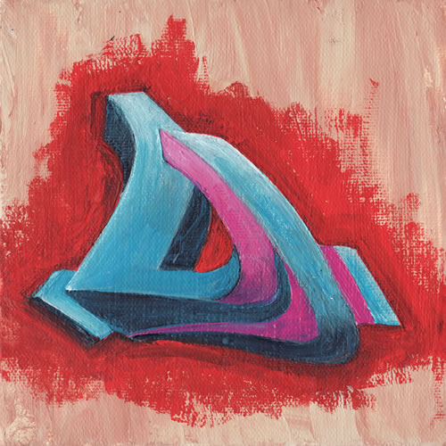 Graffiti Alphabet Letter D On Canvas