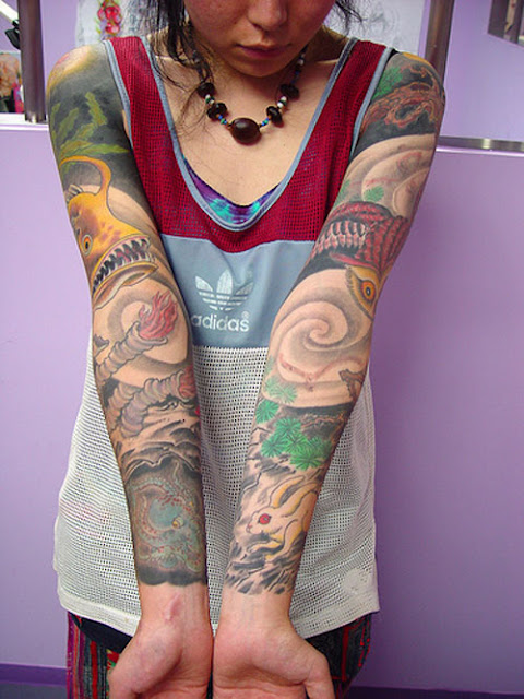 tattoo design lovers Japanese Sleeve Tattoos For Women