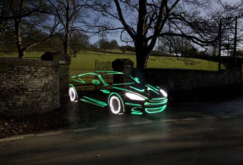 Green Aston Martin Graffiti Light