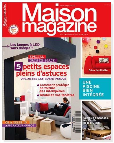 ebooks paradize maison magazine france janvier fevrier 2011. Black Bedroom Furniture Sets. Home Design Ideas