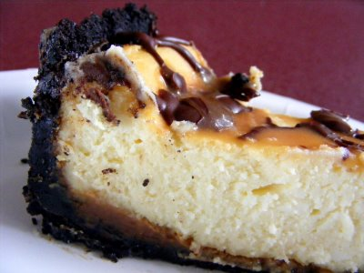 Let Them Eat (Cup)Cake: Chocolate Caramel Cheesecake