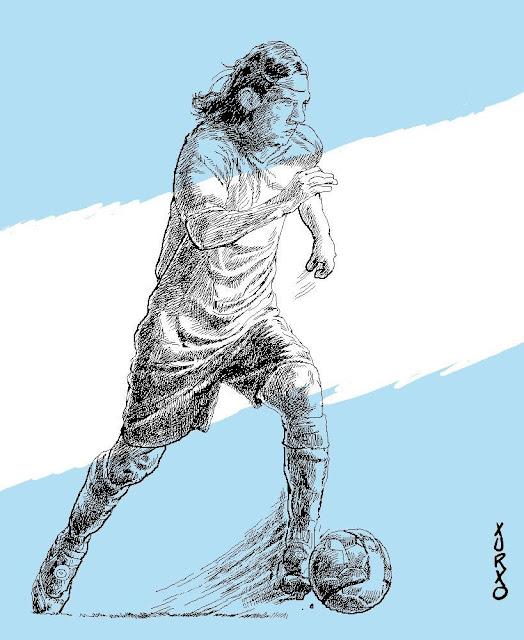 Retrato del jugador de fútbol Lionel Messi