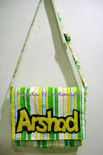 simple messenger bag with personalized embellishment- RM48