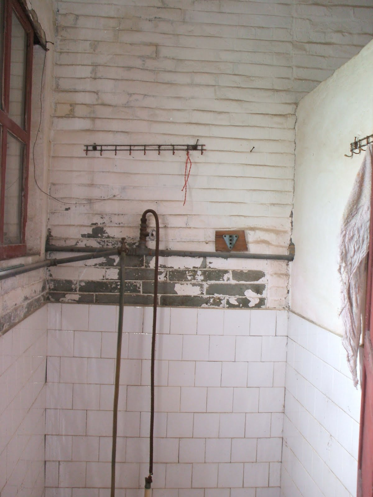 Instructional Design Taishan Part 9 The Yau House Water Storage Electrical Wiring Behind Shower Wall This Is Area Of Stove I Believe It A Shed And Sink Looks Like