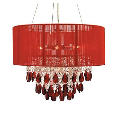 lustre vermelho