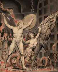 William Blake - Satan, Sin and Death at the Gates of Hell