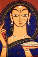 Jamini Roy - Aspara With Rice Plate 2