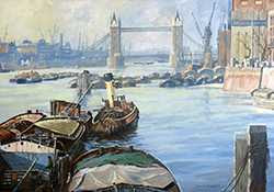 Bert Wright - Wapping and Tower Bridge circa 1948