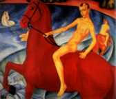 Kuzma Petrov-Vodkin - Bathing of a Red Horse (1912)