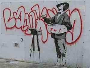 Banksy - Artist Painting 'Banksy' (2008)