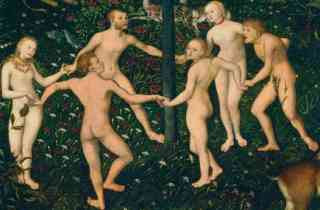 Lucas Cranach the Elder - Detail from The Golden Age (ca 1530)
