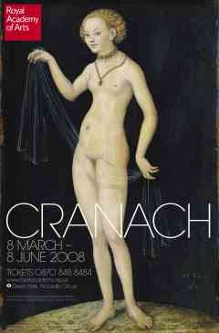 RA Advert showing Lucas Cranach the Elder's Venus (1532)