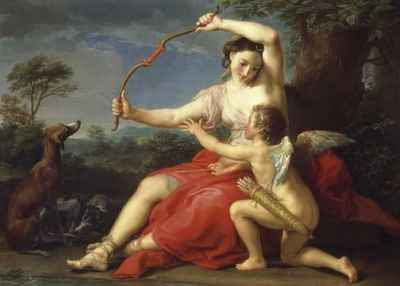 Pompeo Batoni - Diana and Cupid (1761)