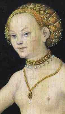 Lucas Cranach the Elder - Venus (1532) detail